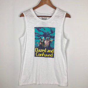 "NWOT~ ""Dazed and Confused"" White Tank"